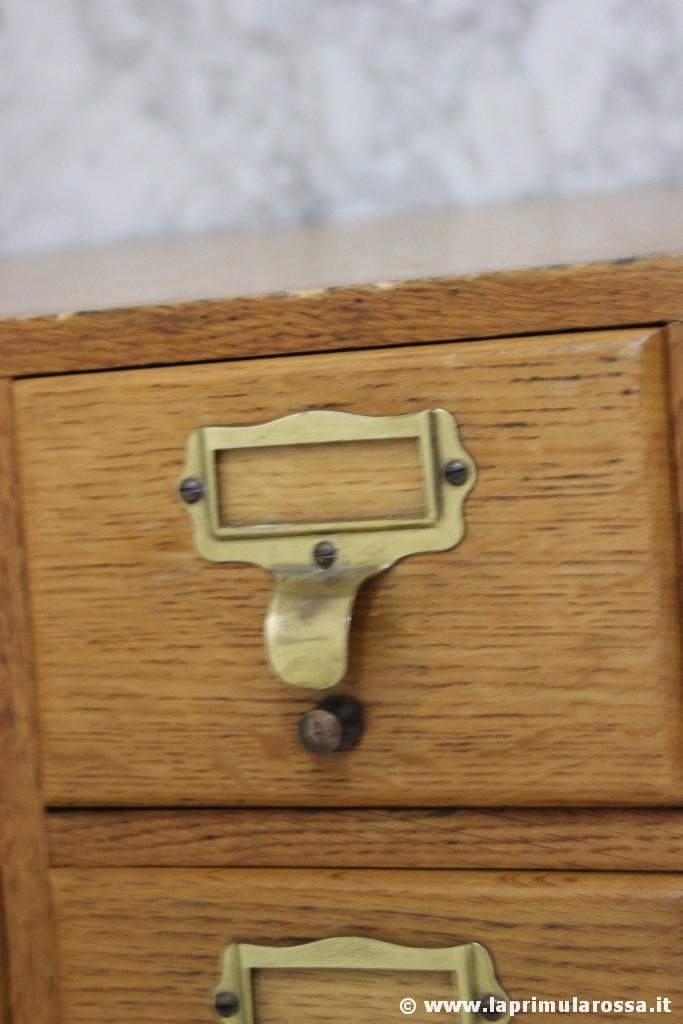 Cassettiera Ufficio D Epoca.Cassettiera D Epoca A Sei Cassetti Schedario Da Ufficio In