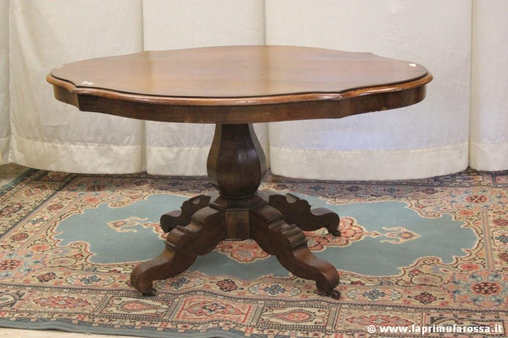 Antico Tavolo Ovale In Legno Tavolino D 39 Epoca A Biscotto